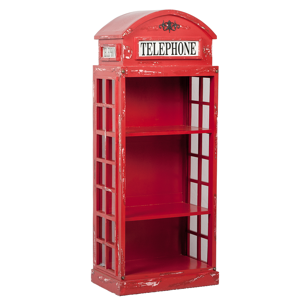 Regal LONDON-offen Antik Rot