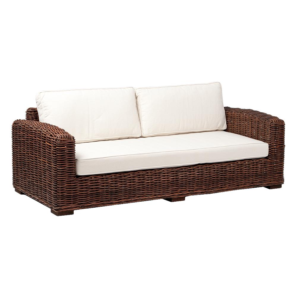Lounge Sofa LIVING Natural Brown ca. L180cm Rattan
