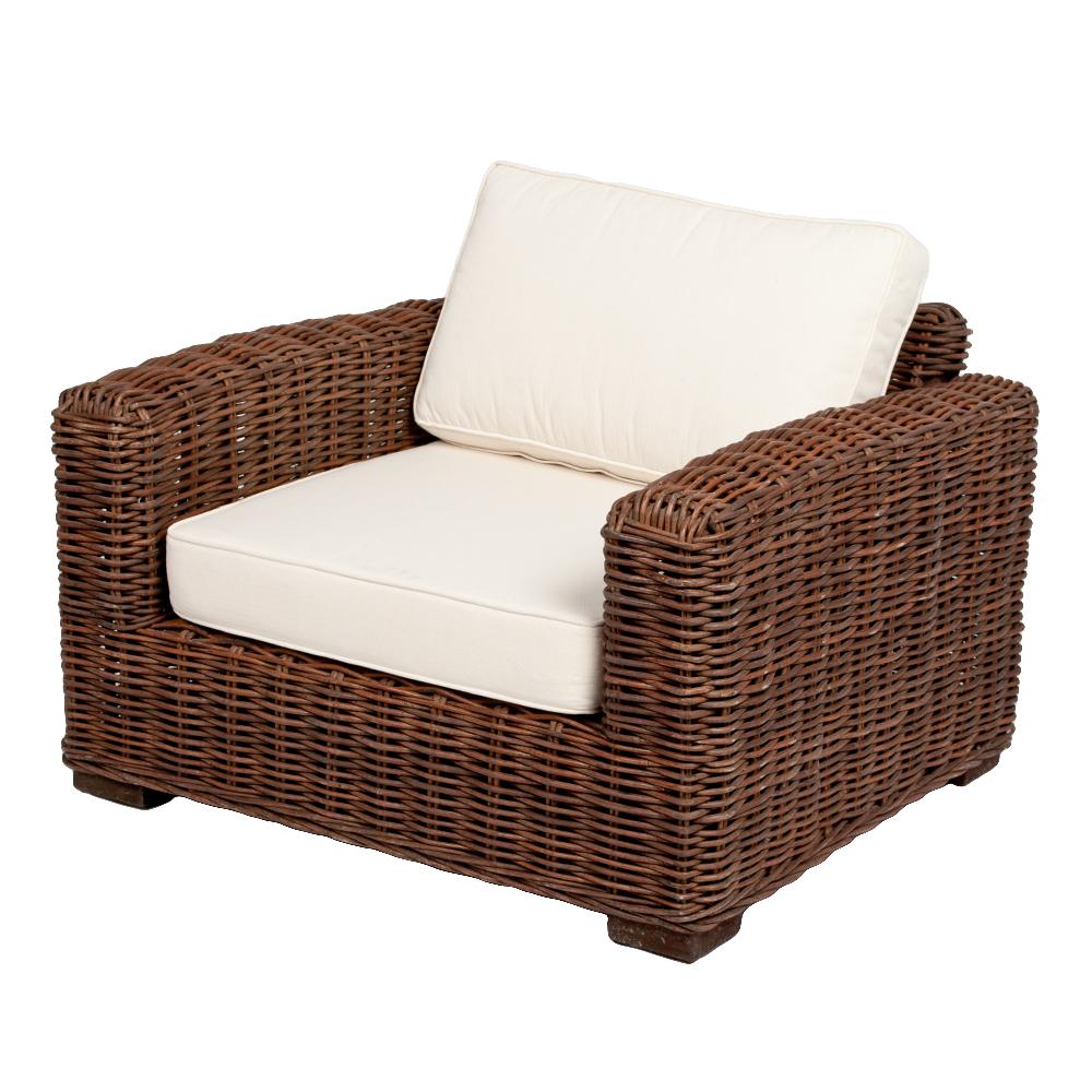 Lounge Sessel LIVING Natural Brown ca. B90cm Rattan