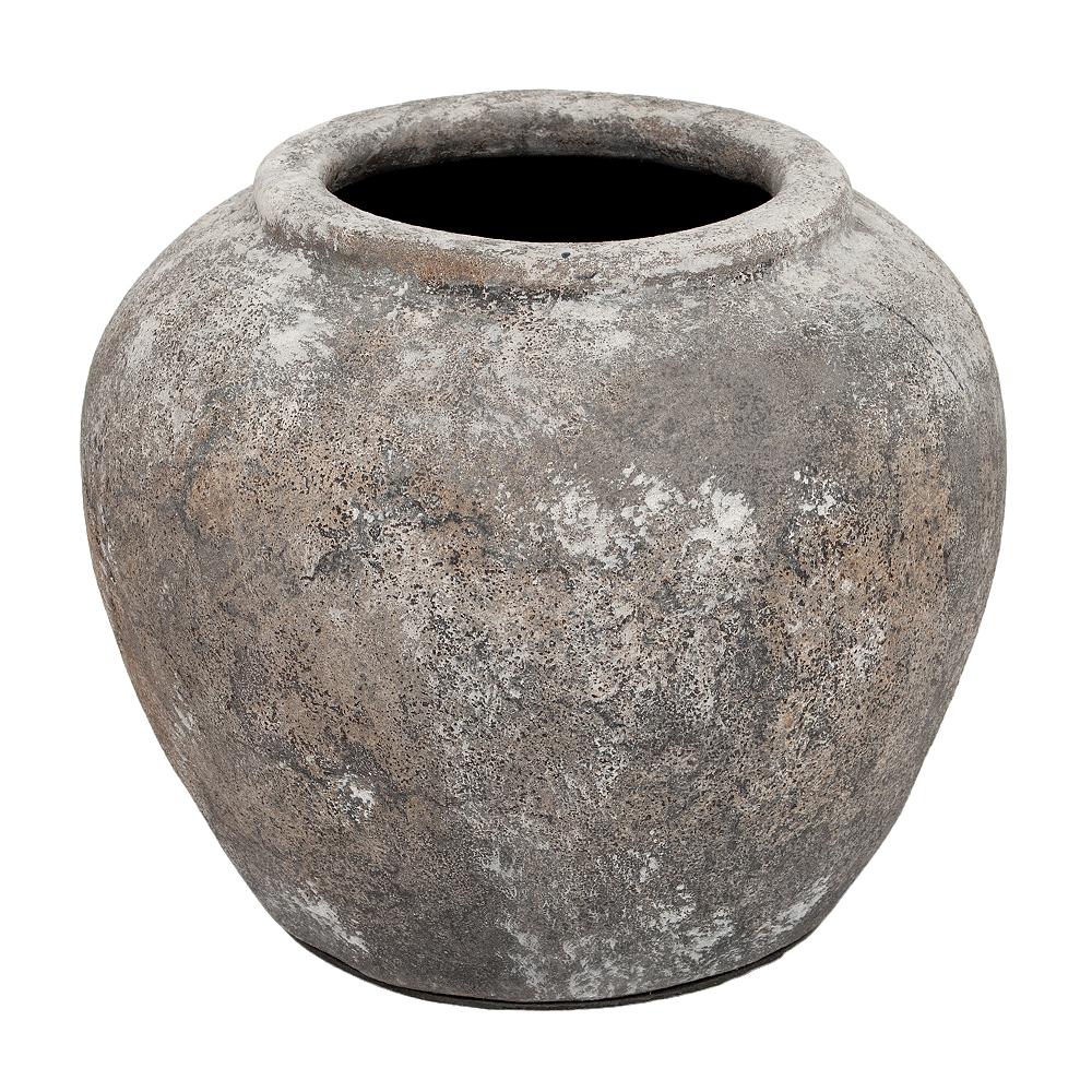 Deko-Vase KOROPI Antik-Grau ca. H20cm