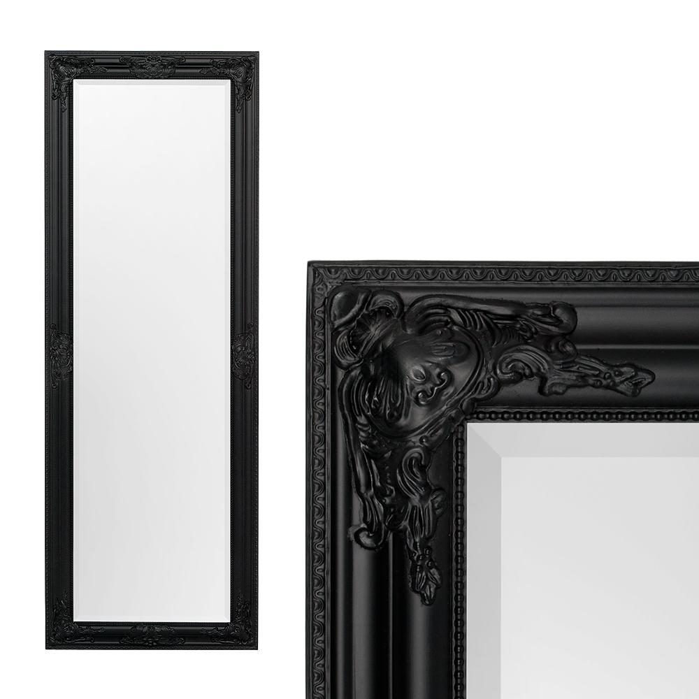 Spiegel BESSA barock schwarz matt 140x50cm