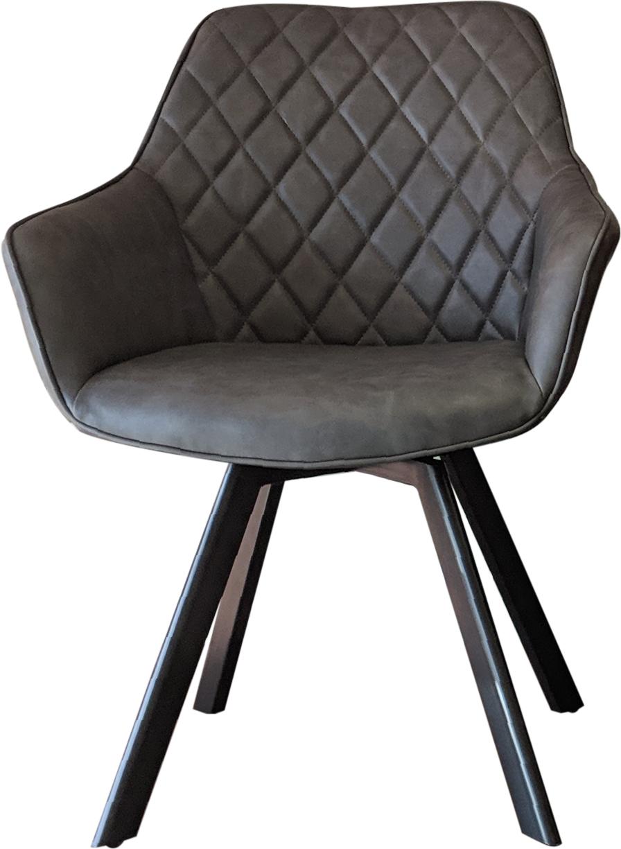 Stuhl RINGO mit Armlehnen Lederoptik│ verschiedene Farben