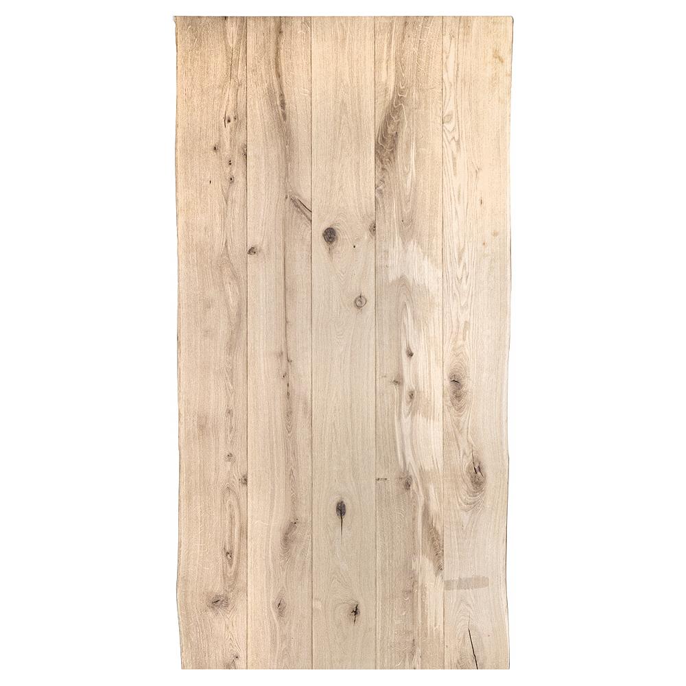 Tischplatte Eiche OLD STYLE Baumkante │ gebürstet mit V-Fuge / optisch gealtert  │ Stärke: 45-48mm │ verschiedene Größen