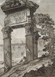 Kupferstich Georg Christian Kilian Rom Imperium Romanum Jupiter Tempel Kapitol Säule Ruine Juno Minerva Archäologie 002