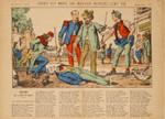 Epinaler Bilderbogen Bank Kredit Duell Säbel Degen Rapier Napoleon III 001