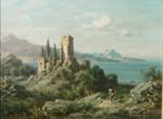 August Seidel Gardasee Lago di Garda Malcesine Riva Ruine Burg Italien Trentino Bild 2
