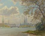 Erich Mercker Hamburg Alster Michel Elbe Hanse Kirchen Lombardsbrücke Segelboot 001