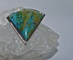 blauer Opal Wechselschließe Weißgold mit 15 Brillanten