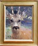 Heinrich von Zügel Impressionismus Tiermaler Rehbock Jagd Jäger deer roebuck hunter