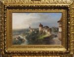 Gemälde Nikolai von Astudin Lahnstein Rhein Romantik Markusburg Braubach Liesertal Manderscheid Moskow