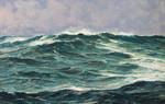 Gemälde Claus Bergen Nordsee Atlantik  Marine navy Helgoland  Wellen Seestück Raimund Gries  Bild 2