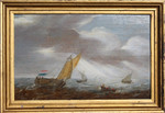 Gemälde Allart van Everdingen Holland Marine Segelboot Fischer Nordsee Friesland Wind Wellen sailboat sailing ship