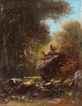 Gemälde Alois Bach Eschlkam Satyr Faun Ziegenbock Wald Romatik Spitzweg Schleich Bild 3