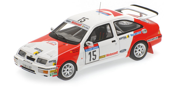 Ford Sierra RS Cosworth Minichamps 437878015 1:43 SAINZ/BOTO - TOUR DE CORSE 1987 – image 1