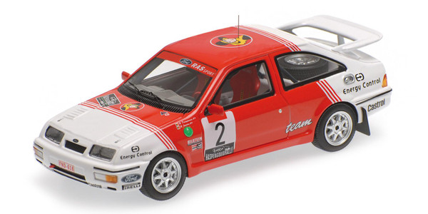 Ford Sierra RS Cosworth Minichamps 437878102 1:43 DROGMANNS/JOOSTEN - WINNER LOTTO HASPENGOUW RALLY 1987 – image 1