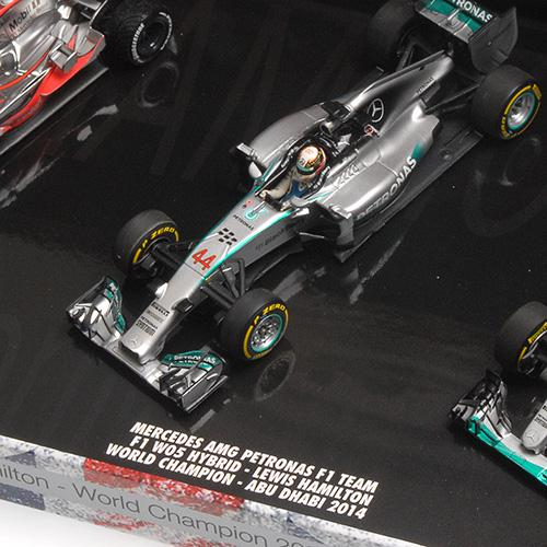 3-Car-Set Hamilton World Champion Triple Set L.E. 2008/2014/2015 1:43 Minichamps 412081415 L.E. 1015 pcs.Lewis – Bild 5