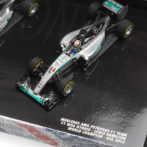 3-Car-Set Hamilton World Champion Triple Set L.E. 2008/2014/2015 1:43 Minichamps 412081415 L.E. 1015 pcs.Lewis – image 4