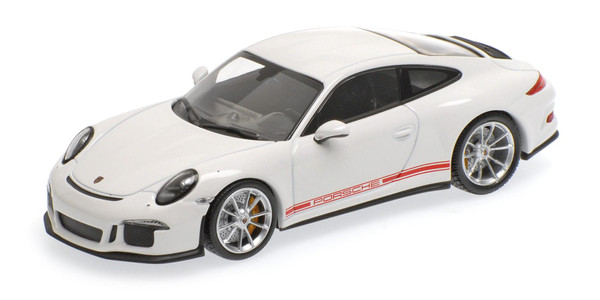 Porsche 911 R 2016 Minichamps 410066221 1:43 weiss WHITE W/ rot RED WRITING L.E. 336 pcs.