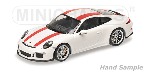 PORSCHE 911 R - 2016 - WHITE W/ RED STRIPES
