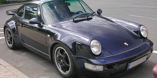 PORSCHE 911 TURBO (964) - 1990 - BLUE METALLIC