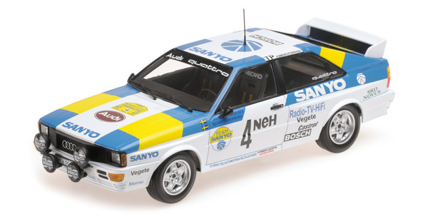 AUDI QUATTRO - AUDI SPORT SWEDEN - BLOMQVIST/CEDERBERG - WINNERS INTERNATIONAL SWEDISH RALLY 1982