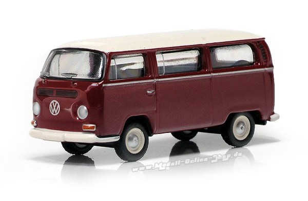 VW T2 Bus, rot-weiss
