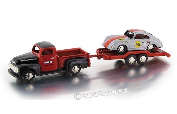 """Ford F-100 Pritsche/ Hänger/ Porsche 356 """"Club Race"""" – Bild 1"""