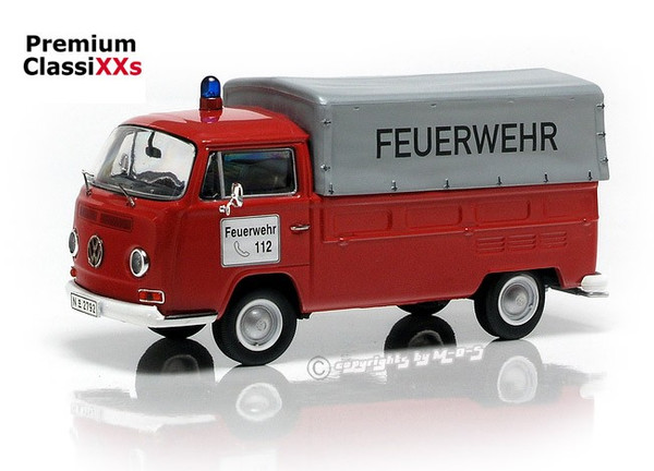 """VW T2a Pritsche/Plane """"FEUERWEHR"""", rot-weiß"""