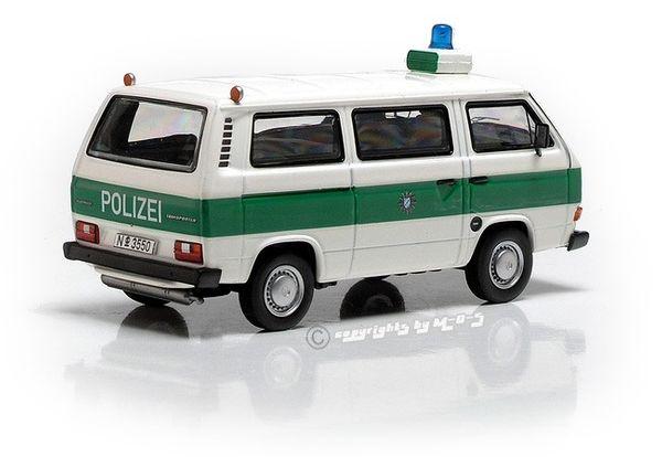"""VW T3a Bus """"POLIZEI"""", weiß-grün – Bild 2"""