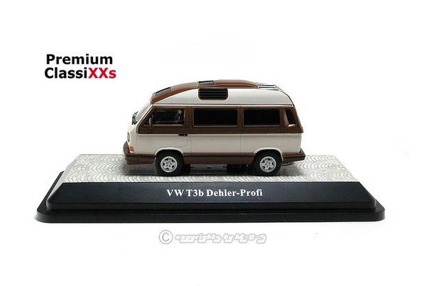 VW Volkswagen T3b Dehler Profi, weiß braun 1:43 Premium ClassiXXs 13078 – Bild 5