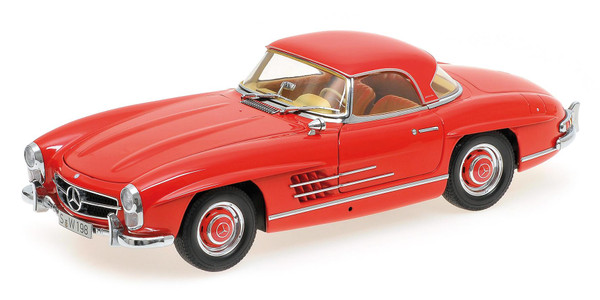 Mercedes 300 SL Roadster (W198) 1957 red Hardtop L.E. 600 pcs. 1:18 – Bild 1