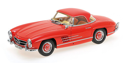 Mercedes 300 SL Roadster (W198) 1957 red Hardtop L.E. 600 pcs. 1:18