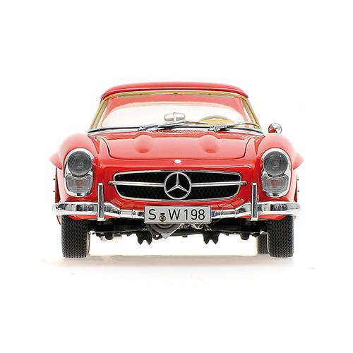 Mercedes 300 SL Roadster (W198) 1957 red Hardtop L.E. 600 pcs. 1:18 – Bild 3