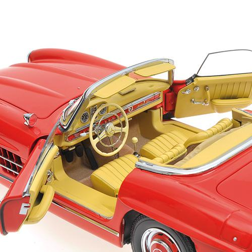 Mercedes 300 SL Roadster (W198) 1957 red Hardtop L.E. 600 pcs. 1:18 – Bild 5