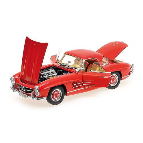 Mercedes 300 SL Roadster (W198) 1957 red Hardtop L.E. 600 pcs. 1:18 – Bild 4