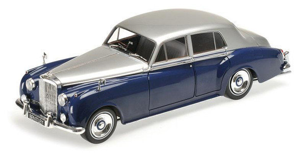 Bentley S2 1960 silver/blue 1:18 Minichamps 100139954  – image 1