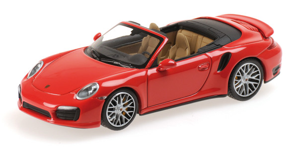 PORSCHE 911 TURBO S CABRIOLET - 2013 - RED L.E. 1008 pcs.