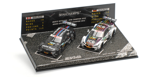 2-CAR SET - BMW M3/M4 - SPENGLER/WITTMANN - DTM CHAMPIONS 2012/2014 L.E. 299 pcs.