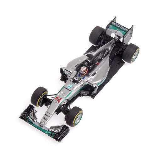 Mercedes AMG W07 #44 Minichamps 417160744 1:43 Hybrid Petronas F1 Team Lewis Hamilton - Winner Abu Dhabi GP 2016 L.E. 500 pcs. – image 3