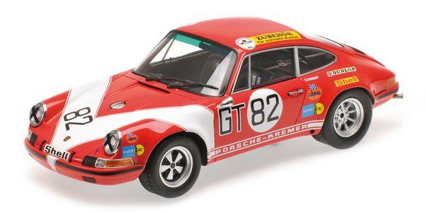 Porsche 911 S Kremer Minichamps 107716882 1:18  Kremer Racing - No. #82 Kremer/Neuhaus - Class Winner ADAC 1000 KM 1971