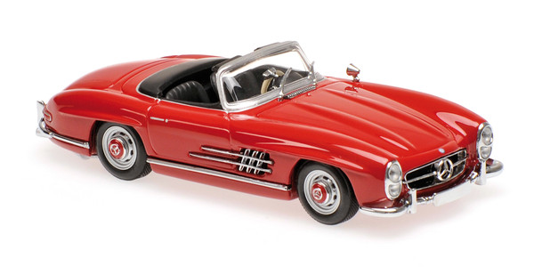 Mercedes 300 SL Roadster (W198 II) Maxichamps 940039031 1:43 1955 dark red