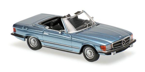 Mercedes 350 SL (R107) Maxichamps 940033430 1:43 1974 - light blue metallic hellblau