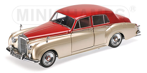 Bentley S2 1960 silver/dark red 1:18 Minichamps 100139950 – image 1