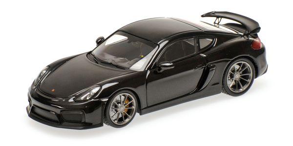 Porsche Cayman GT4  2016 Minichamps 410066121 1:43 black metallic schwarz L.E. 336 pcs. – Bild 1
