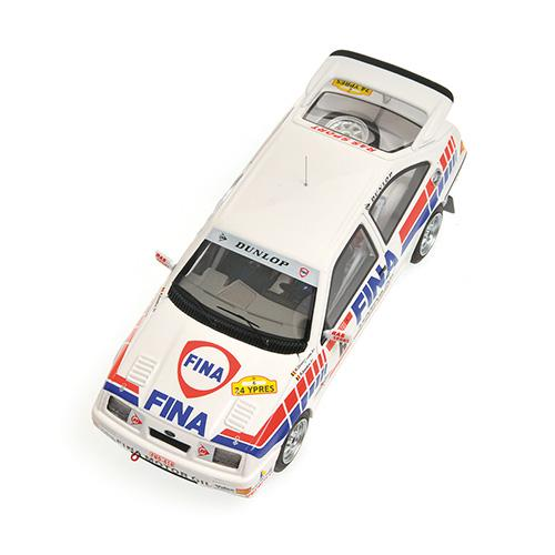Ford Sierra RS Cosworth Winner Rally Ypres 1989 DROGMANNS/JOOSTEN Minichamps 437898006 1:43 L.E. 200 pcs.  – image 3