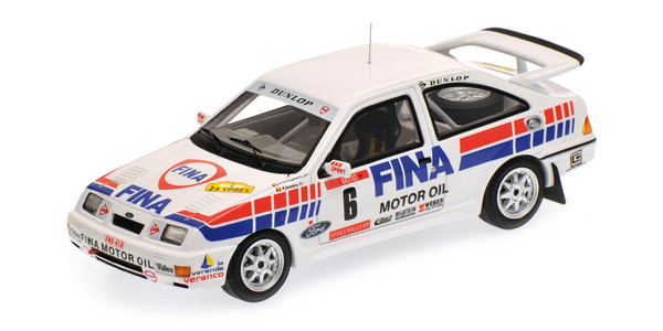 Ford Sierra RS Cosworth Winner Rally Ypres 1989 DROGMANNS/JOOSTEN Minichamps 437898006 1:43 L.E. 200 pcs.  – image 1