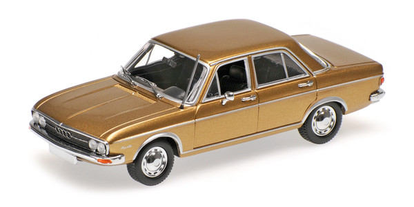 Audi 100, gold, 1969, L.E. 252 pcs. 1:43 Modellauto, Fertigmodell, Minichamps – Bild 1