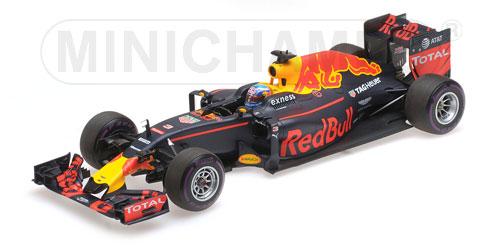 Red Bull Racing RB12 1:18 Ricciardo Monaco 2016 - Tag Heuer DANIEL RICCIARDO - 1ST POLE POSITION MONACO GP 2016 L.E. 244 pcs. Minichamps 117160103  – image 1