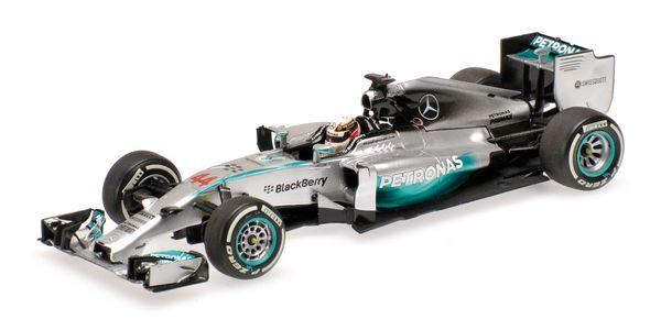 Mercedes AMG Petronas F1 Team W05 - Lewis Hamilton - Winner Bahrain GP 2014 L.E. 680 pcs. Minichamps 410140244 – image 4