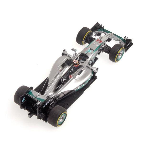 Mercedes AMG Petronas F1 Team - W07 Hybrid - Lewis Hamilton - Winner Abu Dhabi GP 2016 L.E. 500 pcs. 1:43 Minichamps 417160744 – image 3